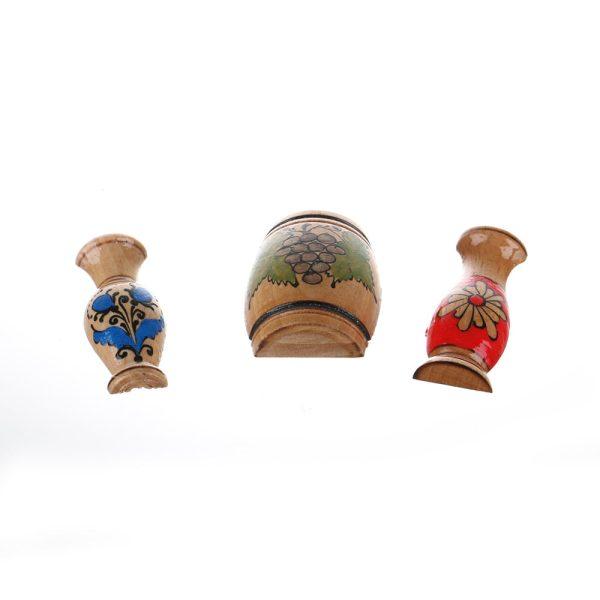 Magnet frigider vase din lemn