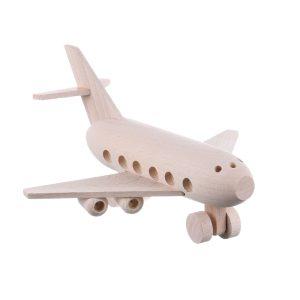 Jucarie din lemn avion pasageri