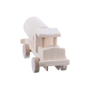 Jucarie din lemn camion cisterna model mic