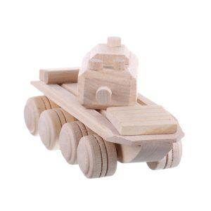 Jucarie din lemn tanc armata