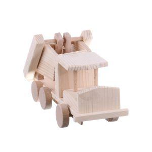 Jucarie din lemn masina de gunoi