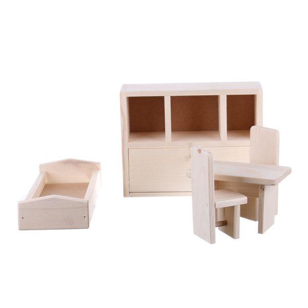 Jucarie din lemn natur mobilier sufragerie