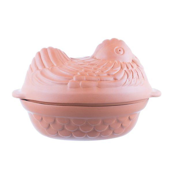 Vas Roman de lut pentru cuptor 4 l model găină