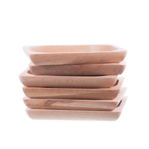 Set 6 platouri din lemn pentru servit model 4