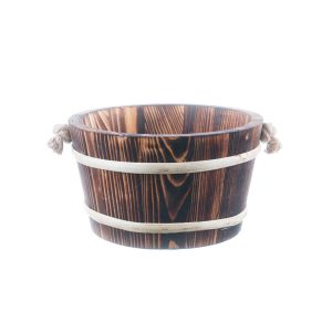 Ornament pentru gradină galeată lemn maro