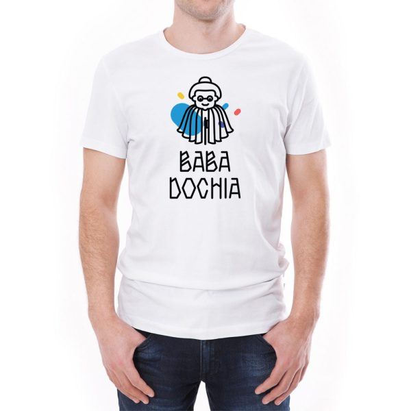 Tricou bărbați Baba Dochia Învie Tradiția alb/negru