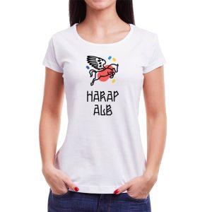 Tricou femei Harap Alb Învie Tradiția alb/negru