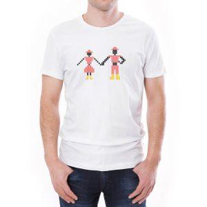 Tricou bărbați Împreună Învie Tradiția alb/negru