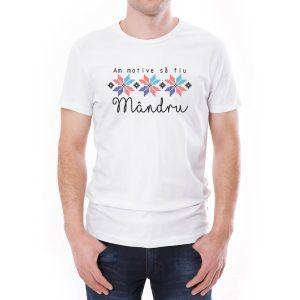 Tricou bărbați Mândru Învie Tradiția alb/negru