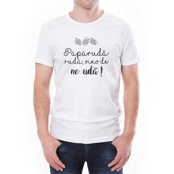 Tricou bărbați Paparuda Învie Tradiția alb/negru