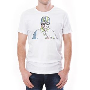 Tricou bărbați Țăran cu pai Învie Tradiția alb/negru
