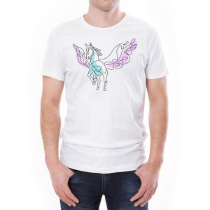 Tricou bărbați Pegasus Învie Tradiția alb/negru