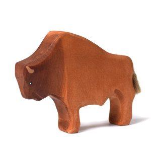 Jucarie bizon stand BumbuToys, din lemn