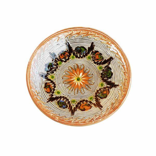 Farfurie Ceramica Horezu Model Floral 19-21 cm - Diverse modele