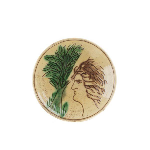 Farfurie ceramică Kuty Botoșani model Mihai Eminescu 16 cm