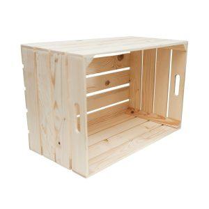 """Lădiță din lemn de brad cu manere 60 x 40 x 32 cm """"Dragaica"""""""