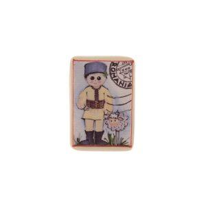 Magnet România pictat pe pânză - litografie pe panza si lemn sau ceramică DD