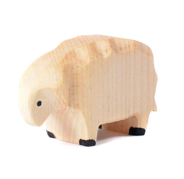 Jucarie oaie pascand BumbuToys, din lemn