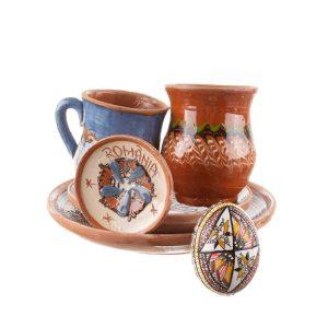 Pachet cadou de Paște ceramică de Horezu