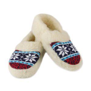 Papuci de casă tip botoșei din lână