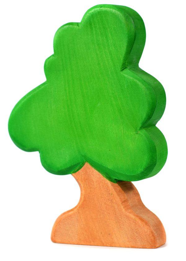 Jucarie pom mare BumbuToys, din lemn, verde cu maro