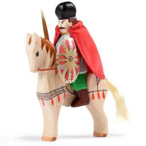 Jucărie Set Mihai Viteazul si calul de lupta, din lemn