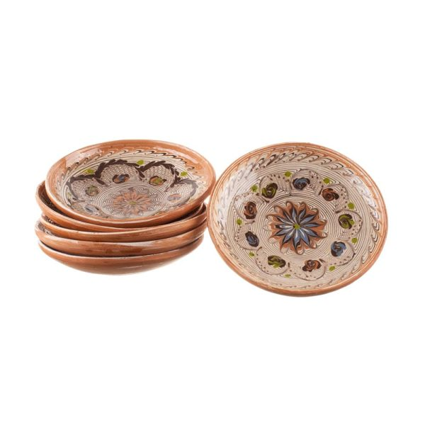 Set 6 farfurii din ceramică de Horezu 16 cm