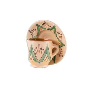 Set farfurie și cană de cafea ceramică Kuty Botoșani