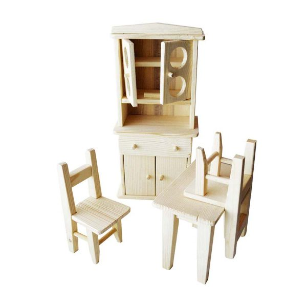 Set mobilier din lemn bucatarie pentru papusi