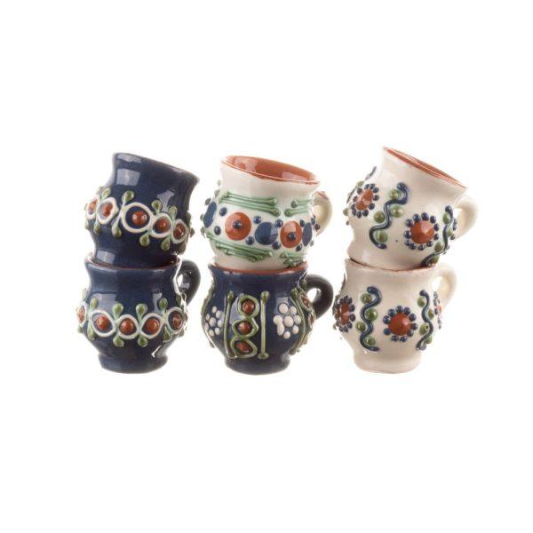 Set 6 căni de țuică din ceramica Bledea Baia Mare