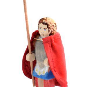 Jucarie SET Sfantul Gheorghe cu sulita si manta, BumbuToys, din lemn