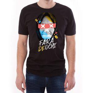 Tricou bărbați Străbunica Învie Tradiția alb/negru