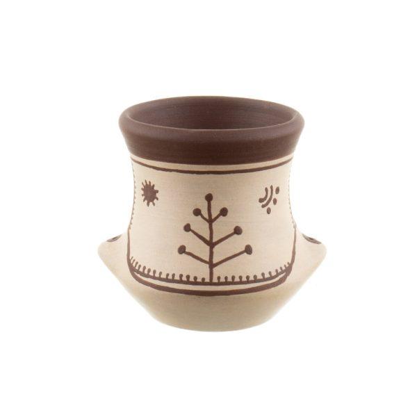 Vas ornamental vază mică din ceramica Cucuteni Alena Stoica