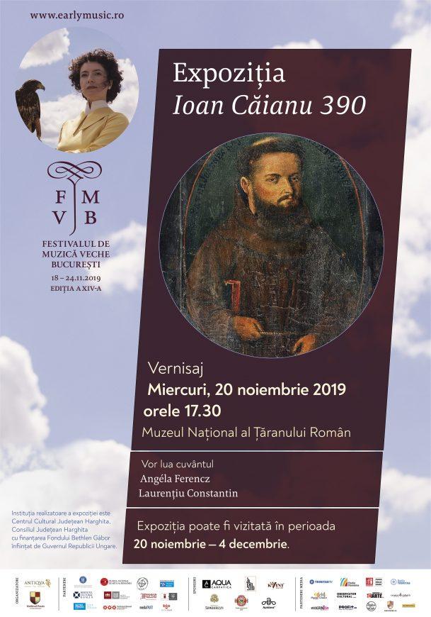"""Vernisajul expoziției """"Ioan Căianu 390"""" / 20 noiembrie, ora 17:30"""